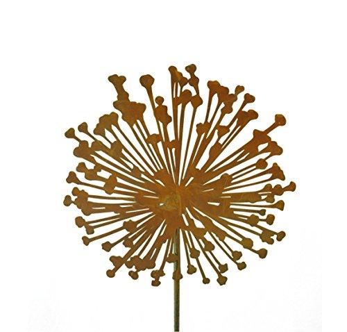 Metallmichl Edelrost Blumenstecker Allium 30cm