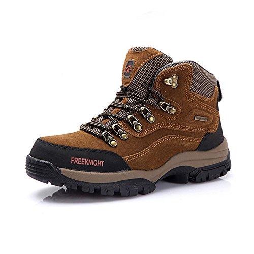 emansmoer Homme High-Top Suède Imperméable Outdoor Bottes Sport Chaussures de Randonnée Trekking Trail Camping Marche Kaki