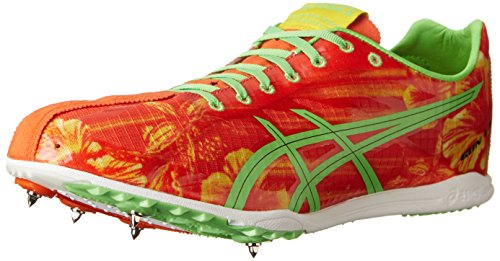 Asics, Scarpe da atletica leggera uomo Red Floral/Flash Green