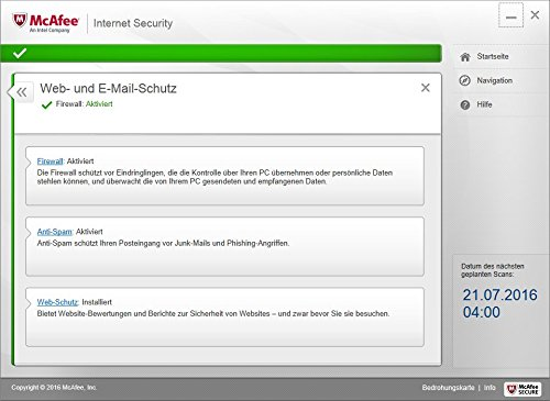McAfee Internet Security 2017 | 1 Gerät | 1 Jahr | PC/Mac/Smartphone/Tablet | Download - 7