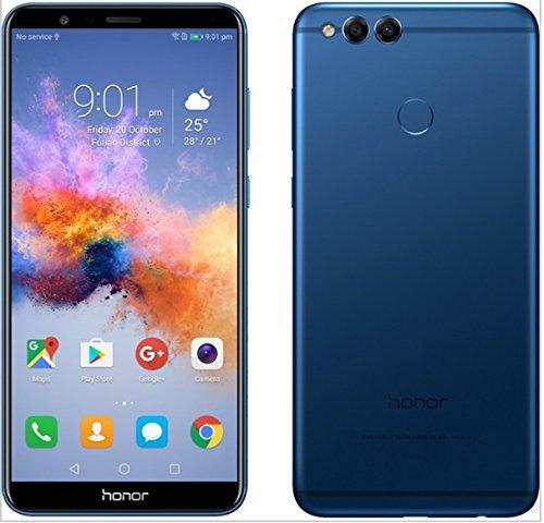 "Honor 7X - Smartphone Android 7.0 (pantalla infinita 5,93"" 18:9, 4G, cámara 16MP+2MP, 4GB RAM, 64GB almacenamiento, procesador Kirin 659 Octa-core) - Azul"