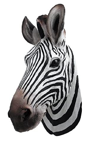 Botswana Zebra Head Wall Mount Statue