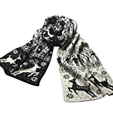 TianWlio Schals Frauen Weihnachten Weihnachten Rentier Schneeflocke Schal Warme Dicke Winter Schal