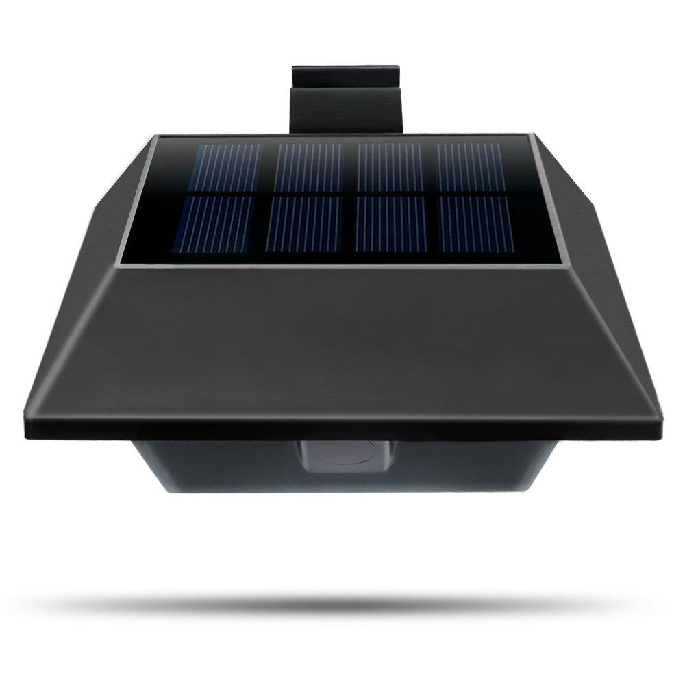 2 10 x 6led solarlampe solarleuchte wandleuchte. Black Bedroom Furniture Sets. Home Design Ideas