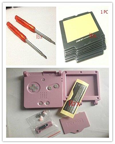 Fosheng Schutzhülle für Nintendo GBA SP Gameboy Advance SP, inkl. Objektiv und Schraubendreher, Pink