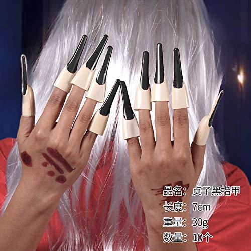 wojiaxiaopu Halloween, Kinder COS Erwachsenen weiblichen Geist Braut Horror weiblichen Vampir Stift Fairy Dance Make-up Requisiten Kleidung Schwarze Nägel Code