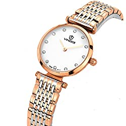 Ladies waterproof quartz watches/Simple steel band watch/ business casual female form-B
