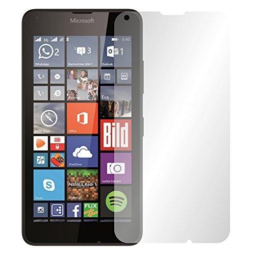 "Preisvergleich Produktbild 4 x Slabo Displayschutzfolie Microsoft Lumia 640 / Lumia 640 Dual-SIM Displayschutz Schutzfolie Folie ""Crystal Clear"" unsichtbar MADE IN GERMANY"