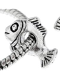 Buddy Nemo de peces payaso cuenta para pulsera compatible con cuenta para pulsera plateado tipo Pandora pulseras para niñas joyas colgantes para mujer