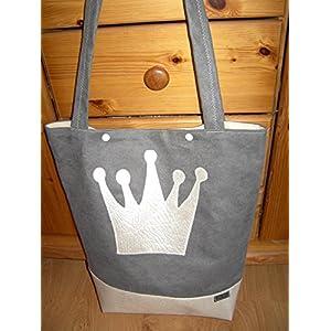 Tasche / Schultertasche mit Krone