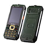 InueINND Unlocked Mobiltelefon, 2,8 Zoll Handy-TV-Telefon Senioren-Handy Englisch Tastatur Dual-SIM Outdoor Taschenlampe FM Radio Kamera GSM 900/1800 64MB +64MB Älteres Telefon 2020 (Armeegrün)