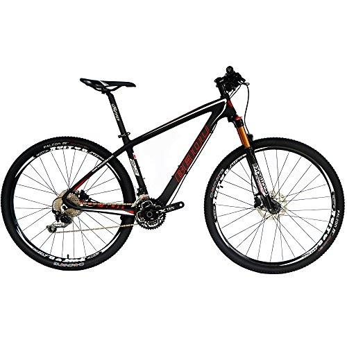 beiou Carbon 29er Non-Vibrato Mountain Bike 29MTB T800Ultralight Rahmen 30Speed Shimano-Deore Fahrrad 11,8kg Matt 3K CB029, Cb029, schwarz