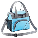 FATMUG Lunch Bags for Office Men Women Insulated Tiifin Bag for Kids -Blue