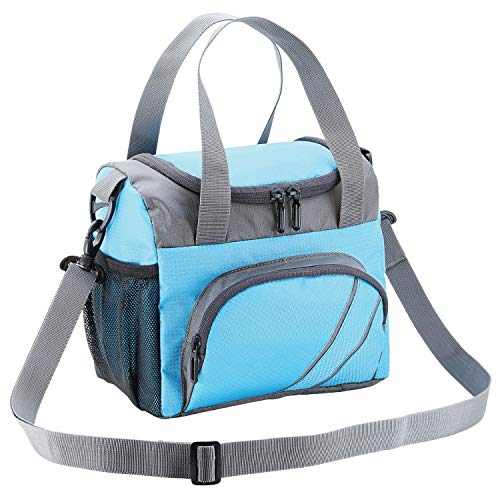 FATMUG Lunch Bags for Office Men Women Insulated Tiifin Bag for Kids -Blue Grey