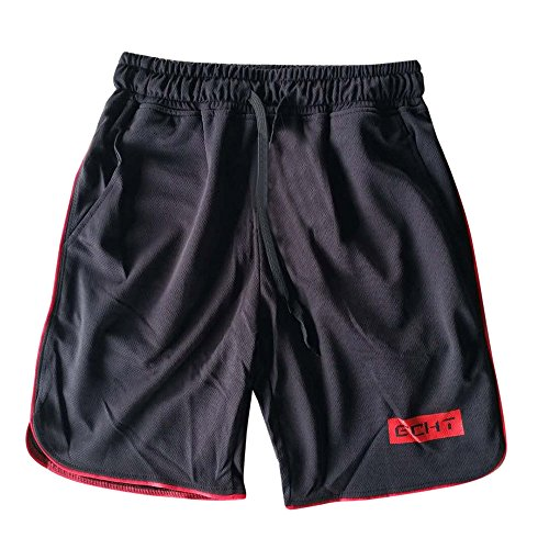 JYJM Männer Sport Training Bodybuilding Sommer Shorts Workout Fitness Gym Kurze Schwimmhose(Rot Size:XL) -