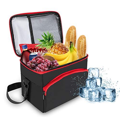 Winzwon Kühltasche Picknicktasche 8L, Lunchtasche Mittagessen Tasche, Thermotasche Lunchbox, Kühltasche Isoliertasche Thermotasche für Lebensmitteltransport und wasserdichte Picknicktasche