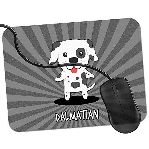 Gaming Mauspad Dalmatinisches Wagen-Hundefeuerwehrhaus Fransenfreie Ränder spezielle Oberfläche verbessert Geschwindigkeit und Präzision rutschfest 2K594