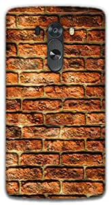 The Racoon Grip Bricks hard plastic printed back case / cover for LG G3