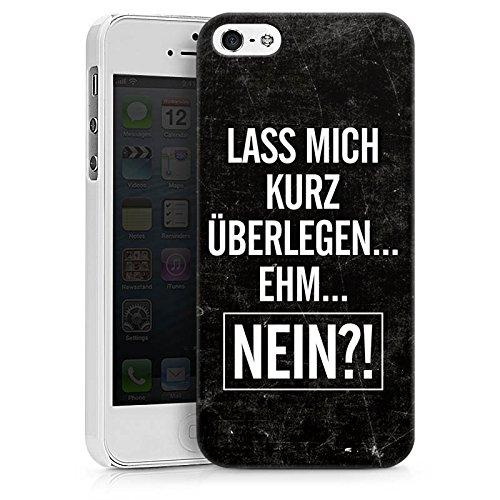 Apple iPhone X Silikon Hülle Case Schutzhülle Sprüche Statements Humor Hard Case weiß