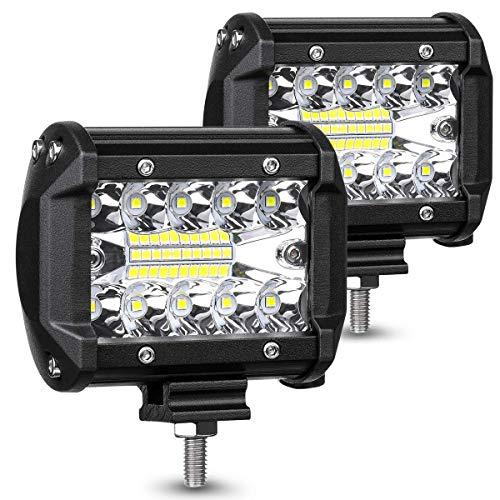 MKZWYY Faro Camion,JieHe Luce Retromarcia LED 60W Fari LED 10v- 30v LED Barra LED Auto Esterni fari Impermeabile IP67 Lampada Luce di Lavoro per off-Road Camion per Auto ATV SUV