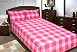 Adithya Delux Pink Double Bed Sheet