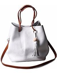 Bolso Bandolera Bolsa de hombro de Piel Grande para Mujer y Shoppers por ESAILQ J