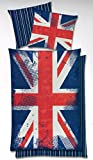 Wende Bettwäsche Great Britain Union Jack 135x200 Global Labels G82600UK1100RE