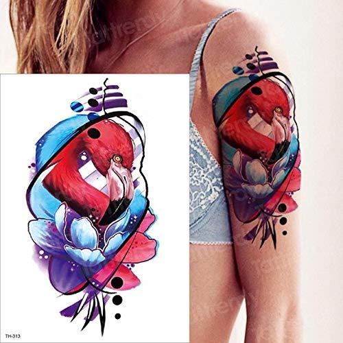 autoadesivo del tatuaggio ragazze colorate trentesimo anniversario serpente farfalla fiore braccio tatuaggio dente di leone corpo schiena tatuaggio