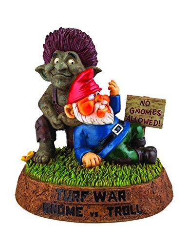 Bigmouth Inc Turf Krieg-Gnome gegen Troll Garten Statue (Gnome Office)