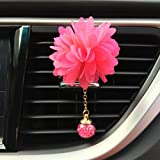 IGEMY 6 Style car essential oil diffuser vent clip Car Loving Gift Air Outlet Fragrant Perfume Flower Freshener Diffuser Camellia (red)