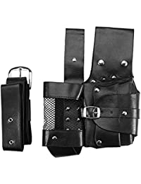 Hair Care Styling Tools Waist Bag, Hairdressing Tool, Professional Salon PU Leather Hairdressing Pouch Holster...
