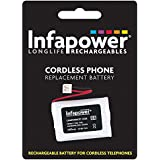 INFAPOWER 3x AAA Ni-Mh 600mAH Cordless Phone Replacement Batteries T006, Code 08
