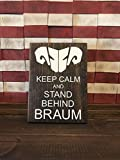 CELYCASY Keep Calm and Stand Behind Braum/Keep Calm Sign/League of Legends/The Heart of The Freljord/Support Carry/Braum Mains