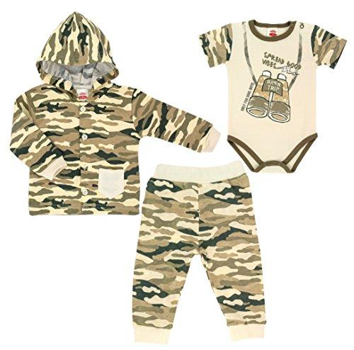 3-tlg. Baby Set Jogginganzug mit Body Trapper Größe 62-92 (92) Baby Trapper