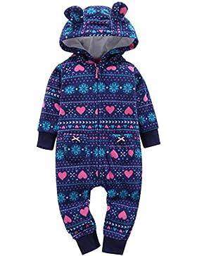Strampler Kolylong® 1 PC (6-24 Monate) Baby Jungen Mädchen Dicker Spielanzug mit kapuze Herbst Winter Warme Outfits...