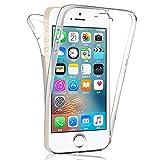 coque compatible avec  iPhone Se / 5S / 5 Coque Silicone Intégral - Transparent