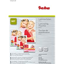 Geha Laminierfolie 80 mic 25er Pack Set A4 A5 A6 V-Card