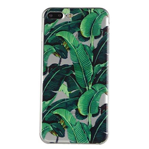 Pour iPhone 7 Plus (5,5 zoll) Case Cover, Ecoway plantain shell téléphone TPU en silicone souple en relief personnalité silicone Housse de Housse pour téléphone portable pour iPhone 7 Plus (5,5 zoll)  plantain