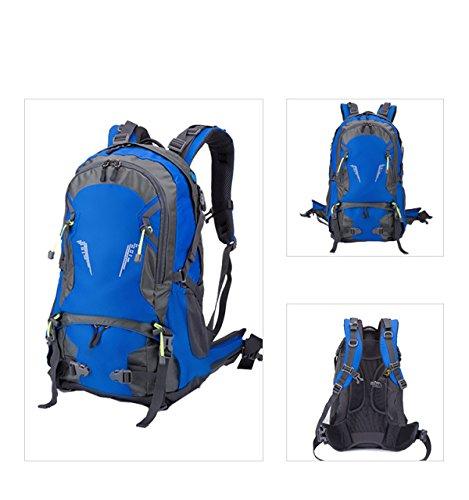 Wasserdichte Outdoor Sports Travel Rucksack Mountain Climbing Rucksack Rucksack Mit Regen Abdeckung Camping Wandern,DarkBlue Blue