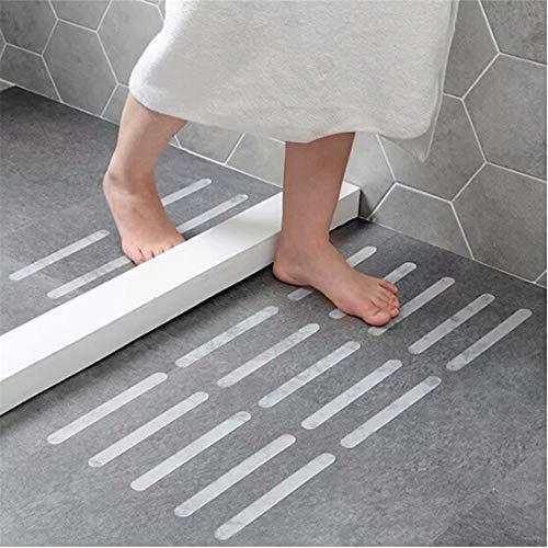 Yesiidor 5 Stücke Transparent Anti-Rutsch Boden Aufkleber Rutschfeste Dusche Streifen Pad Bodenbelag Sicherheitsband Matte Bad Küche Treppen Schritt Skid Sicherheitsband