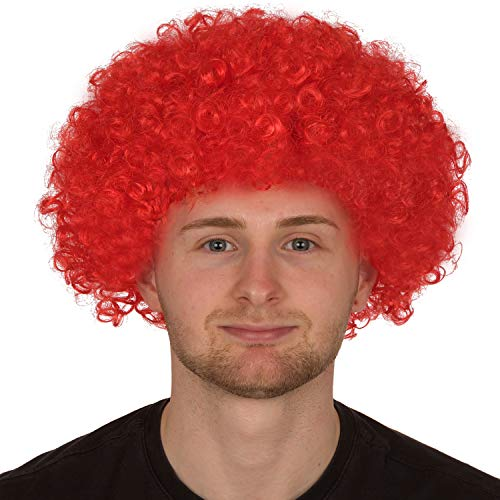 Redstar Fancy Dress - Afro-Perücke für Erwachsene - Locken - Party Clown Kostüm - Accessoire - - Clown Fancy Dress Kostüm