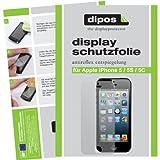 6x Dipos Antireflex Displayschutzfolie Apple iPhone 5 5S SE für die Vorder- und Rückseite (4x VORNE + 2x HINTEN)