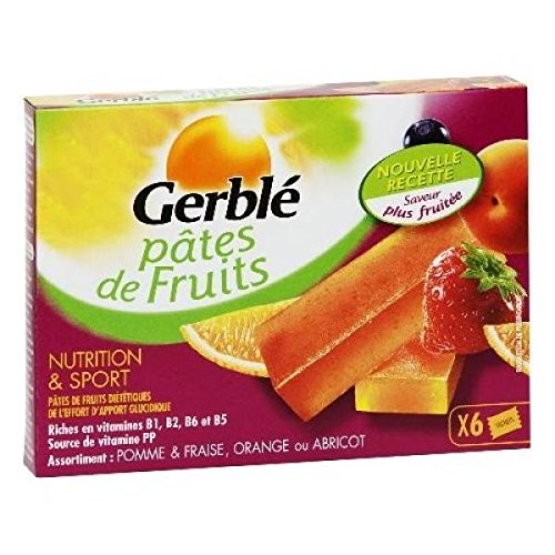 Gerblé Pâtes de Fruits boite de 6 - 162g - ( Prix Unitaire ) - Envoi Rapide Et Soignée