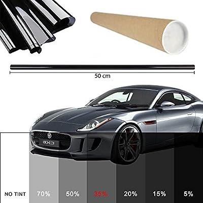 PROMO Lien Film teinté pour vitre de voiture lumière Noir 35% 50x 300cm fenêtre Film de protection solaire