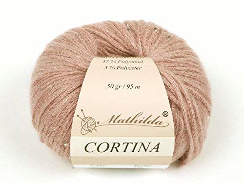 Mathilda Cortina Strickgarn, Wolle, Rosenholz 12 x 10 x 6 cm
