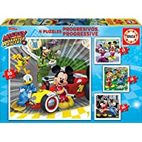 Educa - Mickey & The Roadster Racers, Puzzles Progresivos, Puzzle Infantil de 12,16,20 y 25 Piezas, a Partir de 3 años (17629)