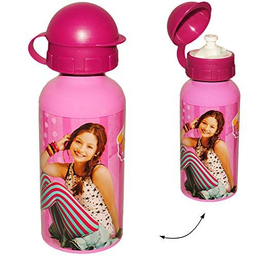 alles-meine.de GmbH Trinkflasche / Sportflasche -  Disney - Soy Luna  - Alutrinkflasche - 400 ml - aus Aluminium - für Kinder - Aluflasche 0,4 Liter / auslaufsicher - Flasche M..
