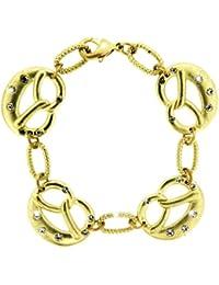 Sweet Deluxe Damen-Armband Messing Wiesn Brezn matt gold 2455