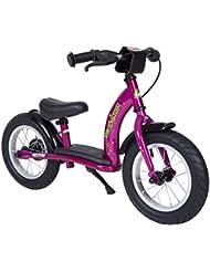 BIKESTAR® Original Premium Sicherheits-Kinderlaufrad für modebewusste Prinzessinnen ab 3 Jahren ★ 12er Classic Edition ★ Bezaubernd Berry Violet