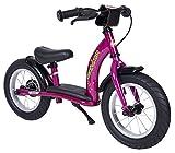 BIKESTAR® Premium Sicherheits-Kinderlaufrad für modebewusste Prinzessinnen ab 3 Jahren ? 12er Classic Edition ? Bezaubernd Berry Violet